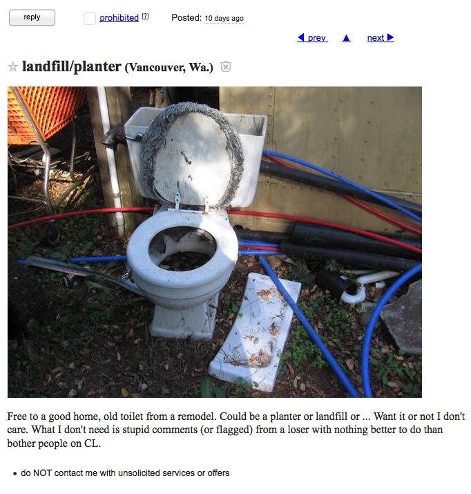 Old Grimy Toilet