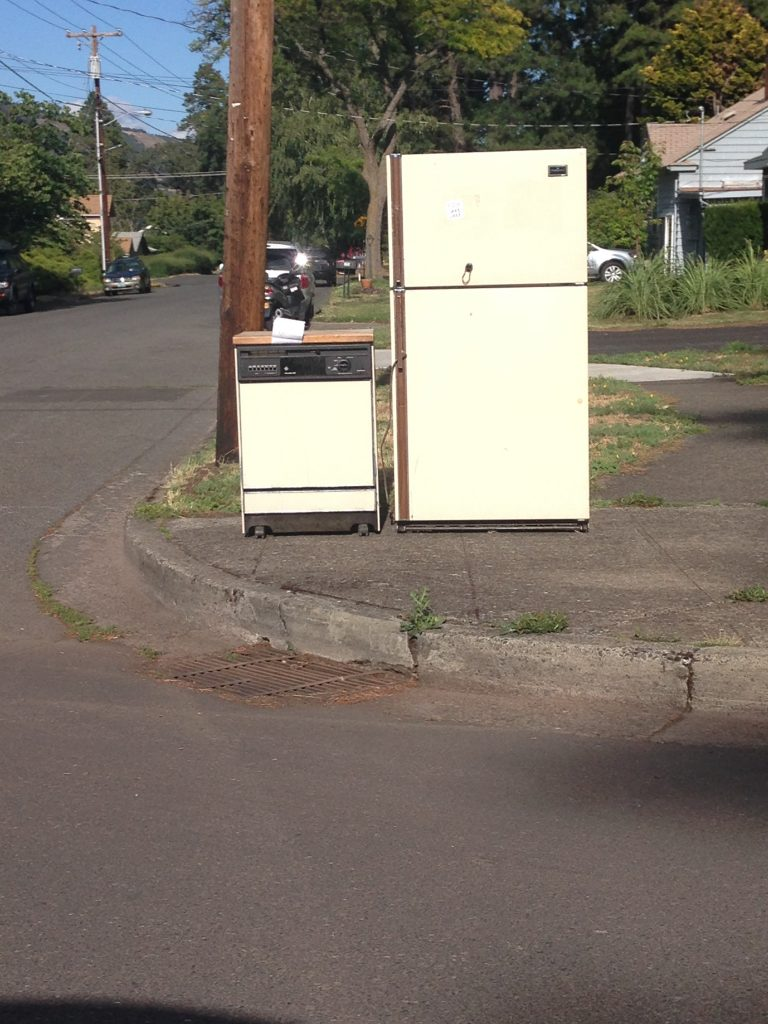 Refrigerator and Dishwasher 4th & May Hood River