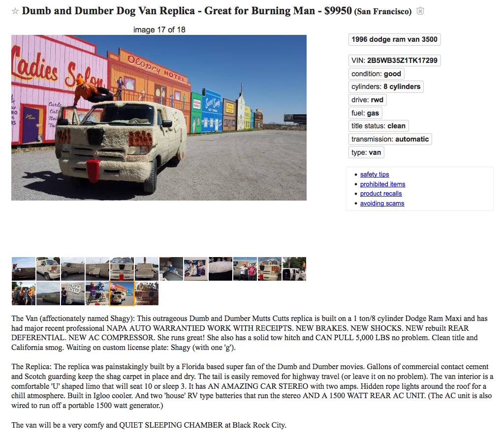 Dumb and Dumber Dog Van Replica